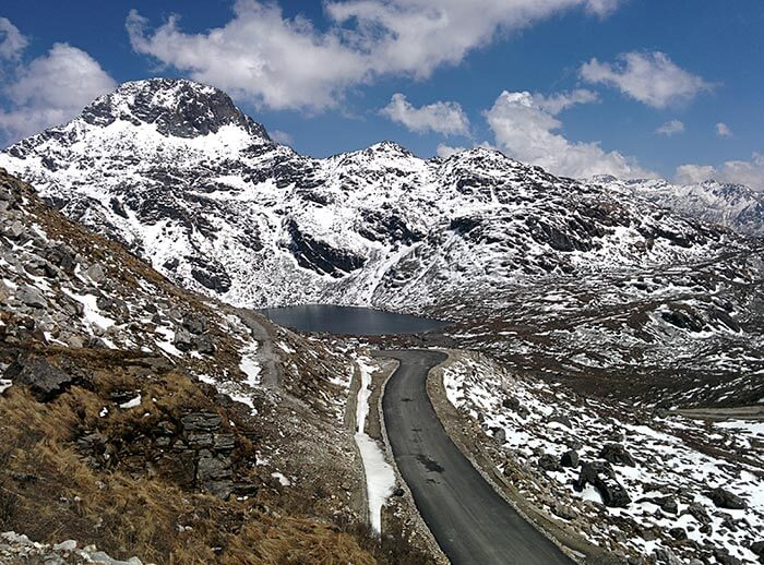 Winter view of the mesmerising Nathula pass