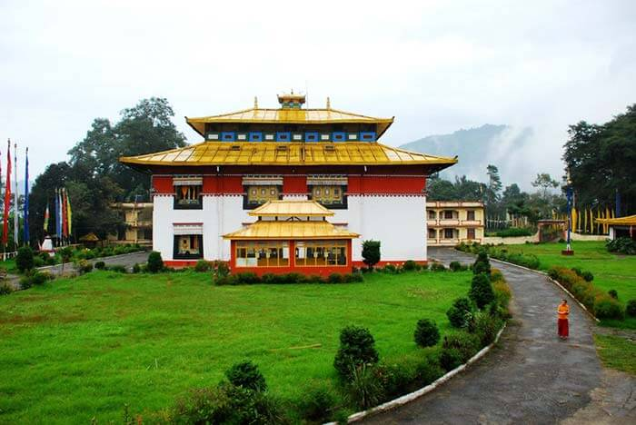 Tsuk La Khang Monastery is a famous tourist attraction in Sikkim