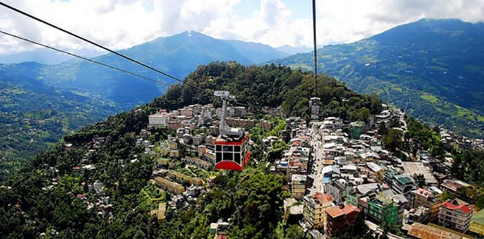 Trolley way to the spectacularly quaint Kabi Town in Gangtok