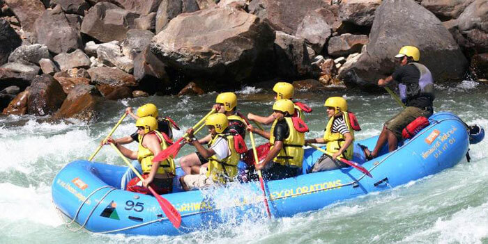 White river rafting at Rishikesh is a major tourist attraction of the region