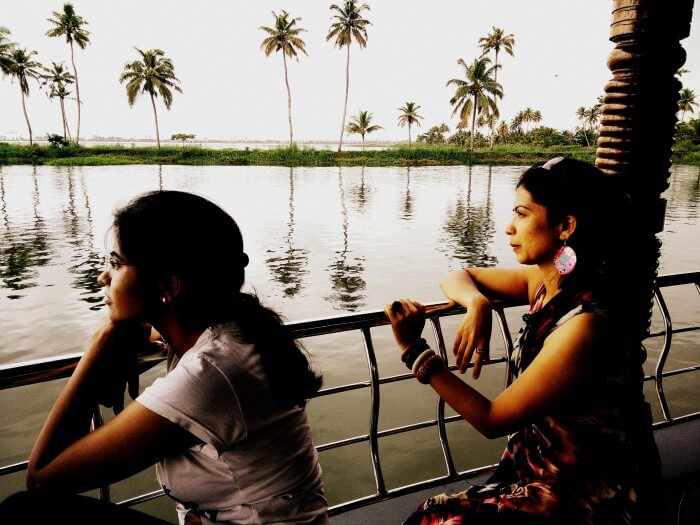 View from the Alleppey Boathouse in Kerala