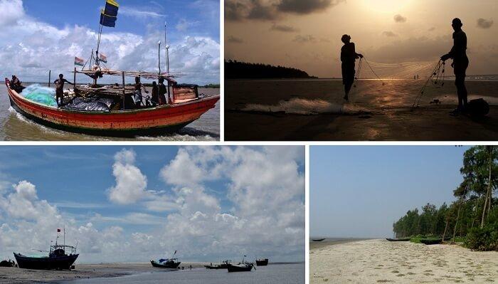The many views of the Bakkhali beach near Kolkata