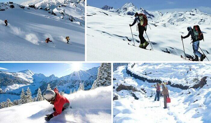 Snowtrekking, skiing, and snowboarding at Munsiyari