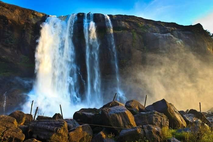 The magnificent Athirapally Falls in Cochin