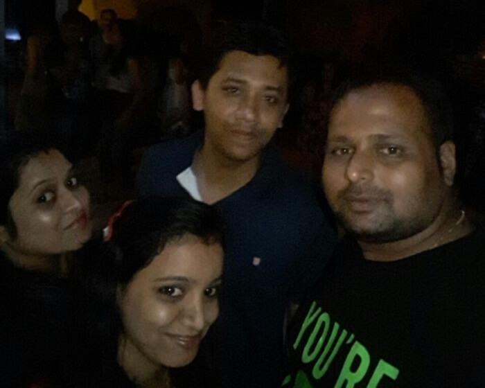 Chetan and his friends enjoying nightlife in Goa