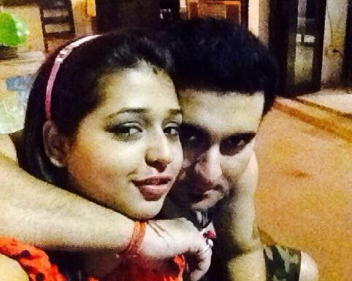 Devansh spending time with his wife in the hotel