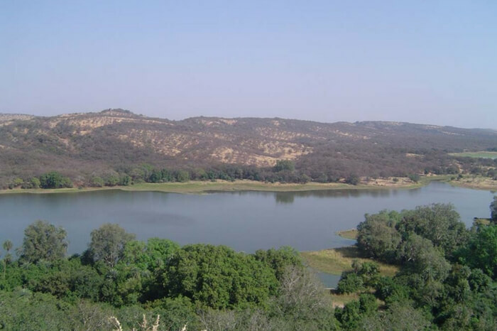 The waterbound Kachida Valley in Ranthambore National Park