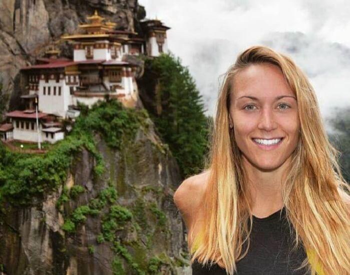 Cassie on the Tigers Nest Trek in Bhutan