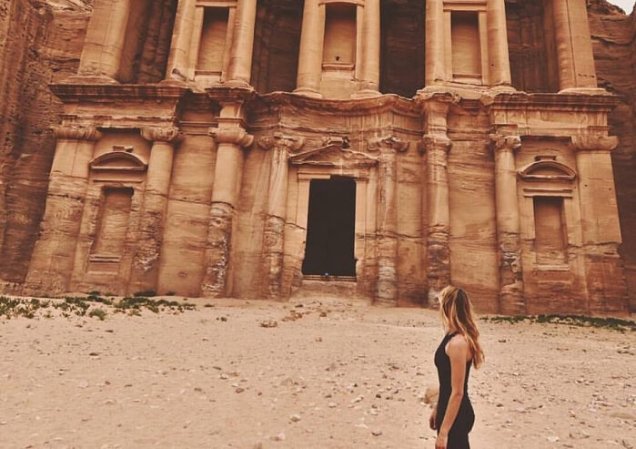 Cassie during one of her travels in Jordan