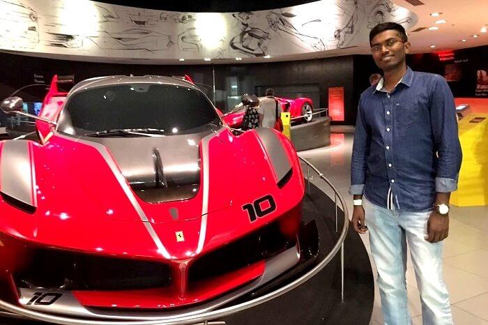 Stunning race cars in Dubai