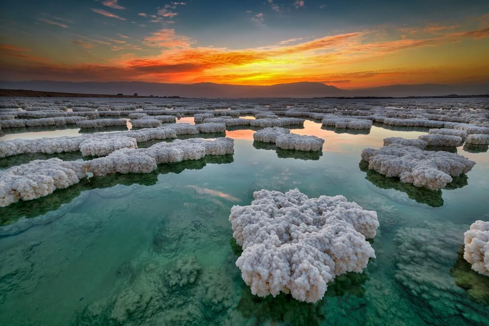 sunrise over Dead Sea