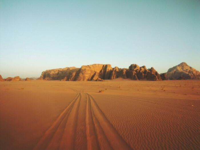 Madaba to Wadi Rum route