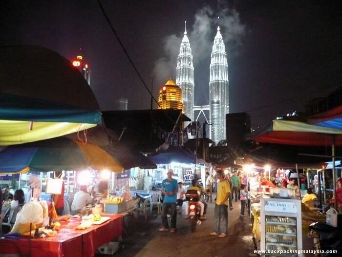Kampung Baru night Market in kuala lumpur