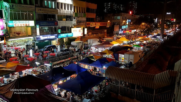 The Taman Connaught Night Market in KL