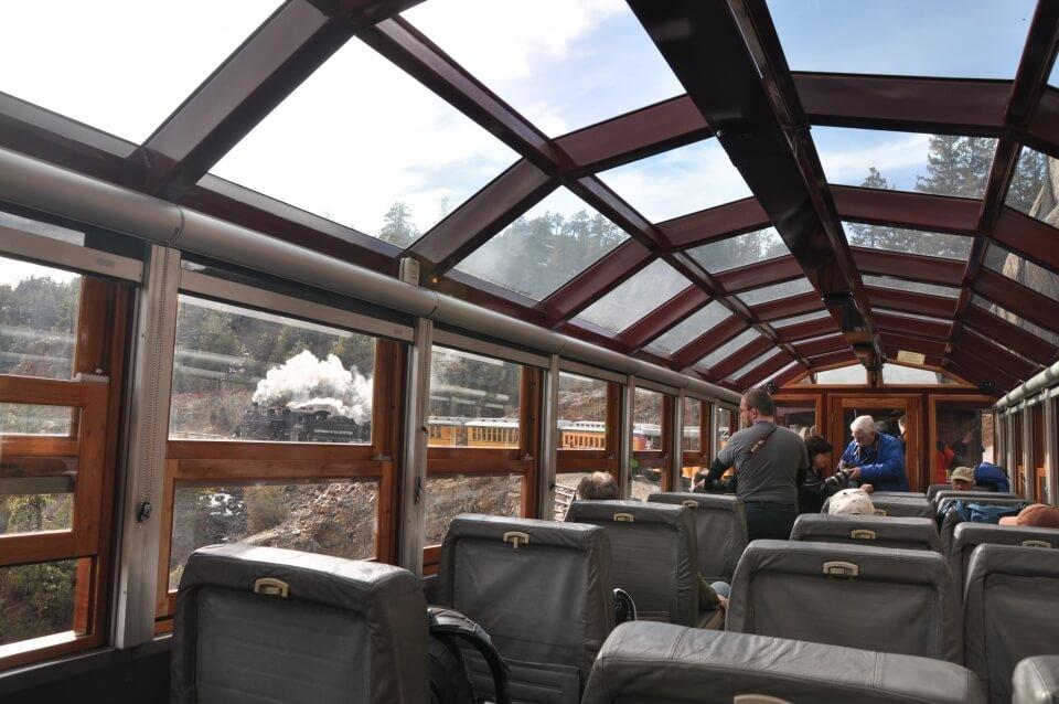 glass roof top train