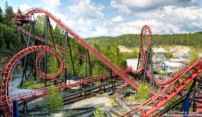 visit Tusenfryd Amusement Park norway