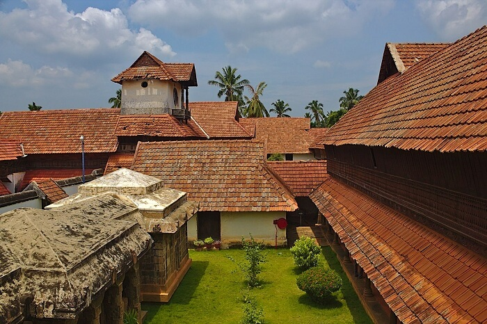 Padmanabhapuram Palace as seen from one of the buildings