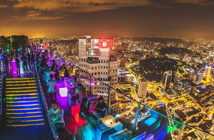 Swanky rooftop bars in Singapore