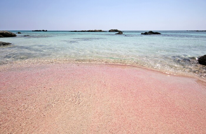 Elafonisi pink sand beach