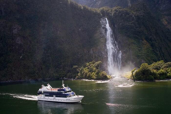 Cruise and waterfall