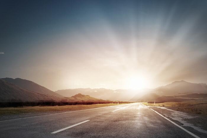 Sunlight at Road