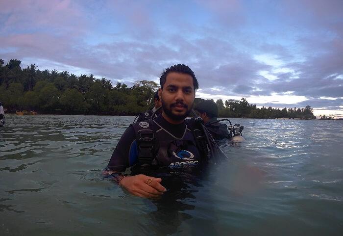 starting for scuba diving