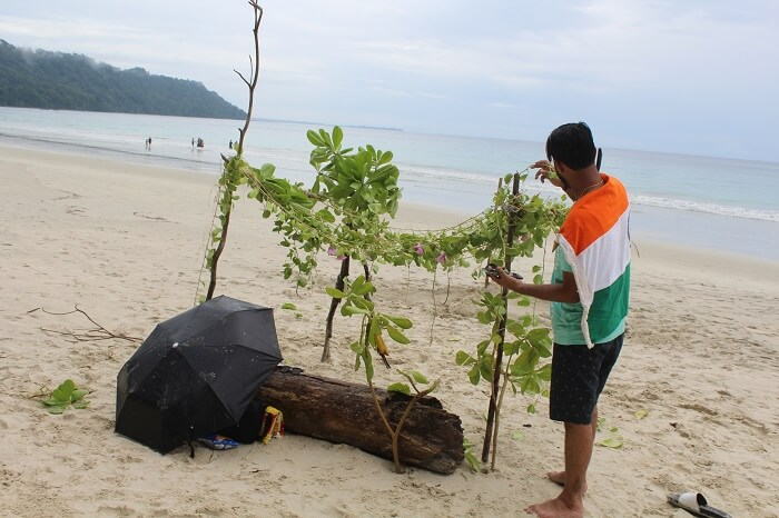 spent some time on the Radha Nagar Beach