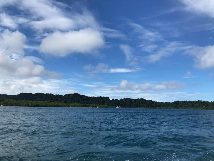 at North Bay island