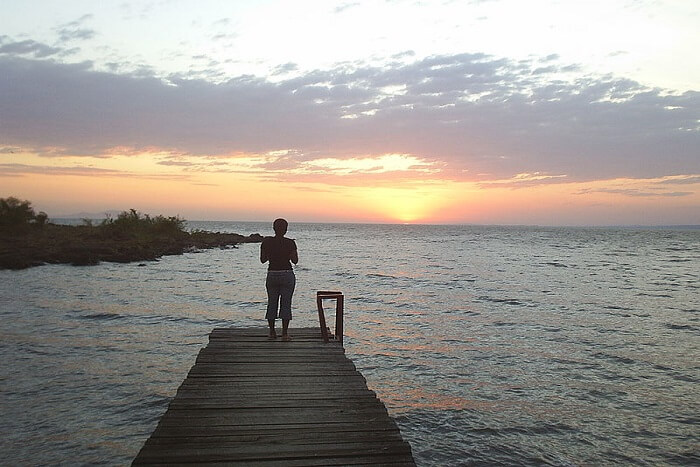 person standing on Kiboko point