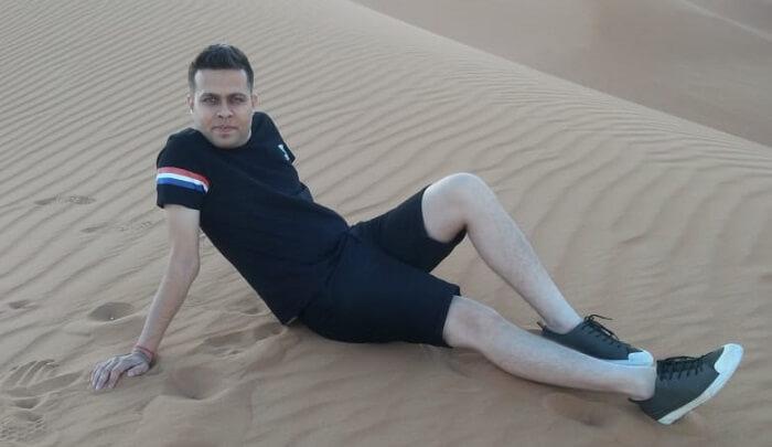 Chilling at Desert