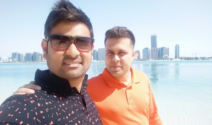 Enjoying With Friend