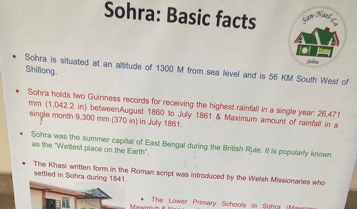 sohra-cherrapunji facts