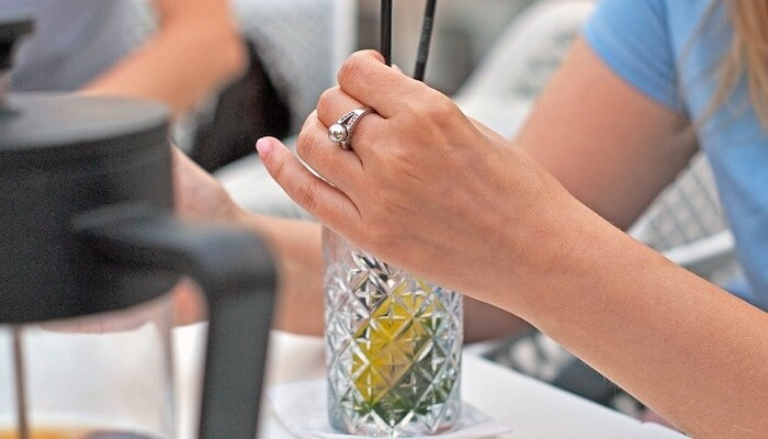 Gold Ring In Drink Mexico