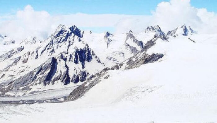 Khatling Glacier In Garhwal Himalayas
