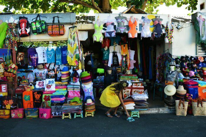 Grand Baie Bazaar for street shopping in Mauritius