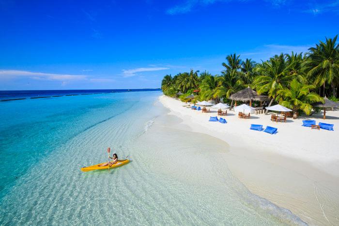 Beautiful Maldives in Indian Ocean
